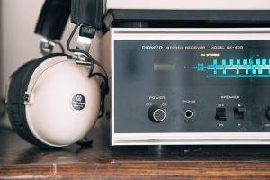 Studio Kopfhörer beim Aufnehmen